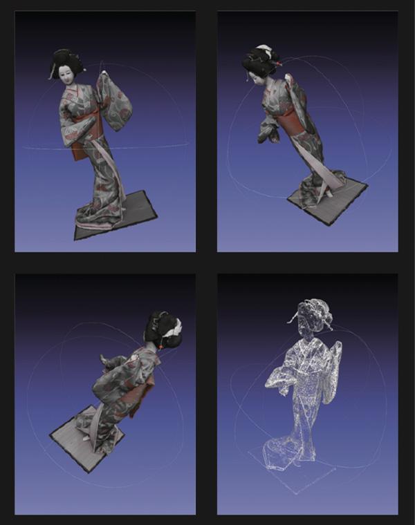日本人形の3Dモデル